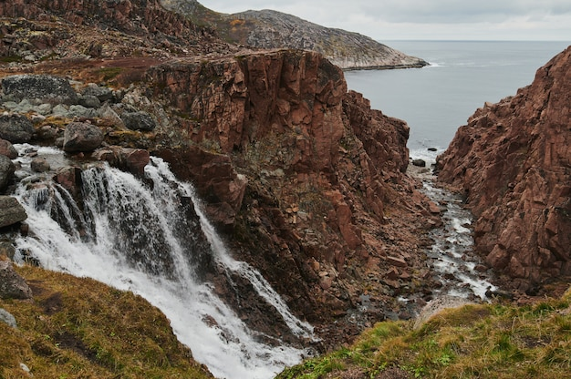 Teriberka, nordrussland, nördliche wasserfälle.