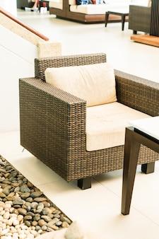Terrassendeck und stuhl