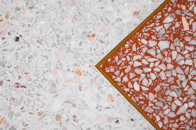 Terrazzo polierter steinboden und wand