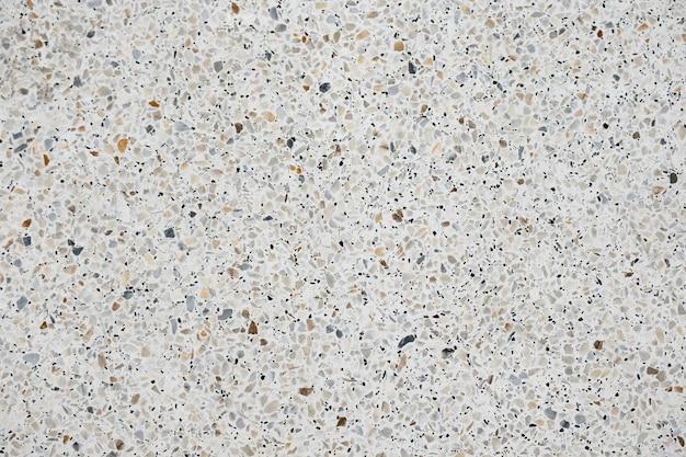 Terrazzoboden und wand aus poliertem stein