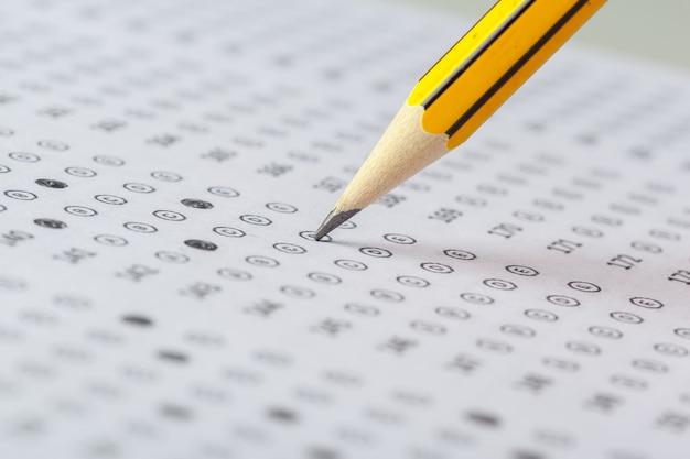 Test score sheet mit antworten
