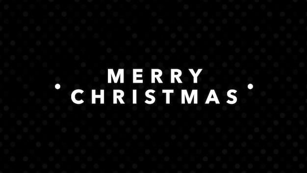 Text frohe weihnachten auf schwarzem mode- und minimalismushintergrund. elegante und luxuriöse 3d-illustration für geschäfts- und unternehmensvorlagen