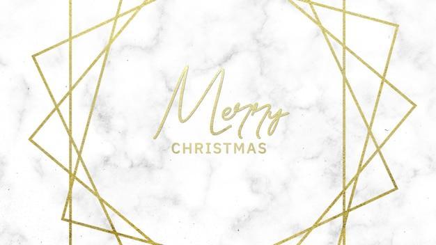 Text frohe weihnachten auf weißem mode- und minimalismushintergrund mit goldenen linien. elegante und luxuriöse 3d-illustration für geschäfts- und unternehmensvorlagen