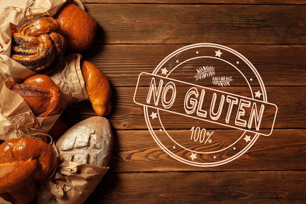 Text glutenfrei auf brot