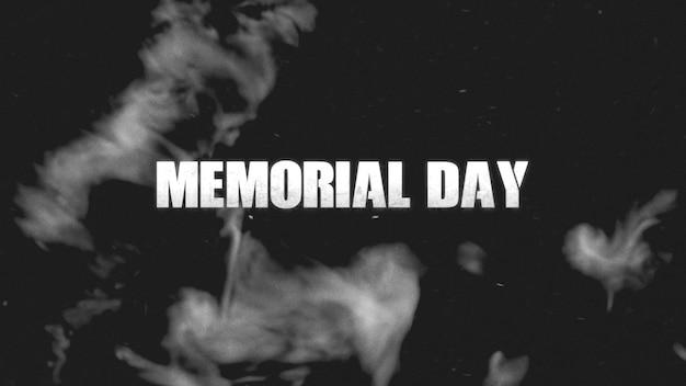 Text memorial day auf militärischem hintergrund mit dunklem rauch