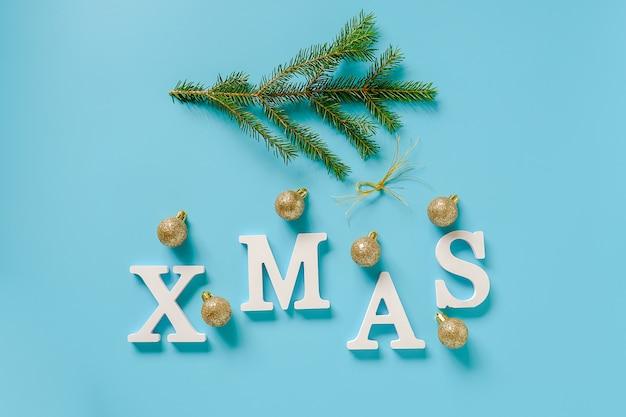 Text-weihnachten von den weißen buchstaben