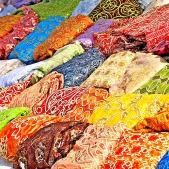 Textil im tunesischen markt