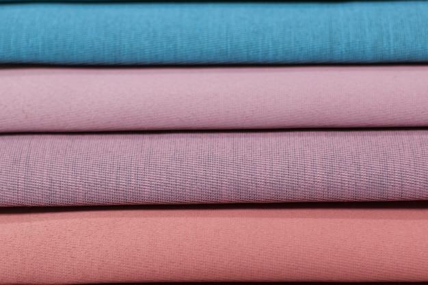 Textilmuster für vorhänge. mehrfarbige gewebebeschaffenheitsproben.