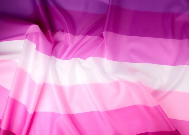 Textilrosa flagge von lesben