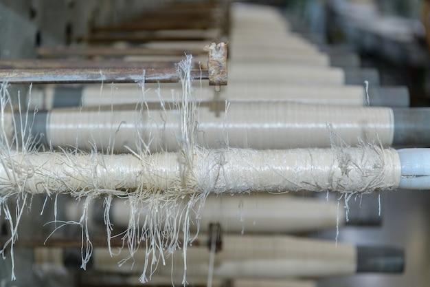 Textilspulen und -seil, textilmaschine, hochwertige nylon-seilherstellungsmaschine in der fabrik