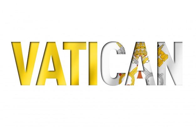 Textschrift der flagge der vatikanstadt