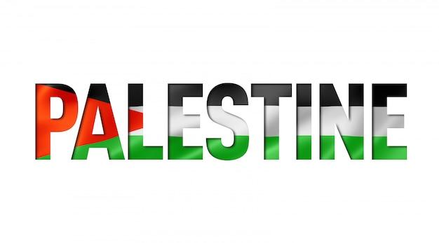 Textschrift der palästina-flagge