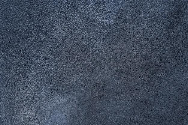 Textur aus blauem schaffell rindsleder verarbeitet