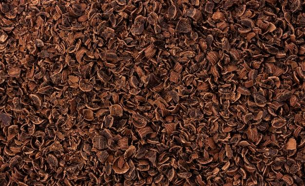 Textur aus geriebener schokolade