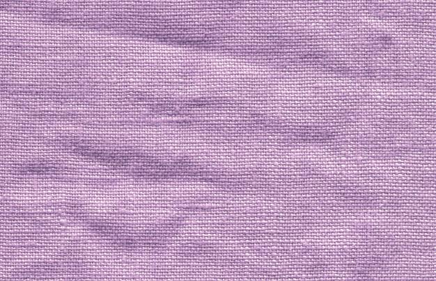 Textur aus leinen violett stoff