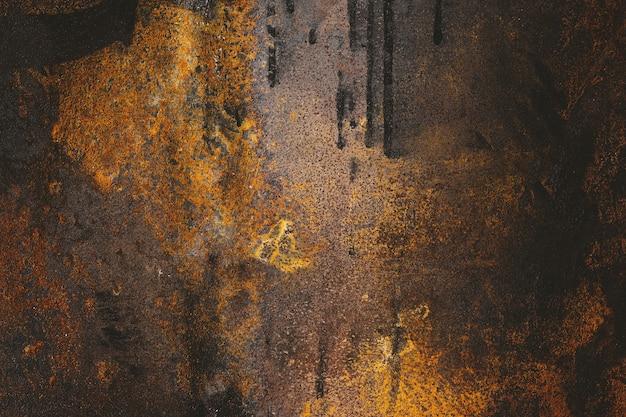 Textur aus rostigem altem metall. hintergrund von schmutziger eisenschmutzkorrosion