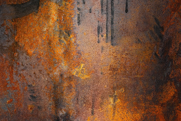 Textur aus rostigem altem metall