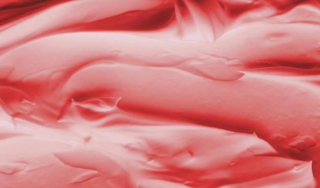 Textur aus rotem cremeschaum