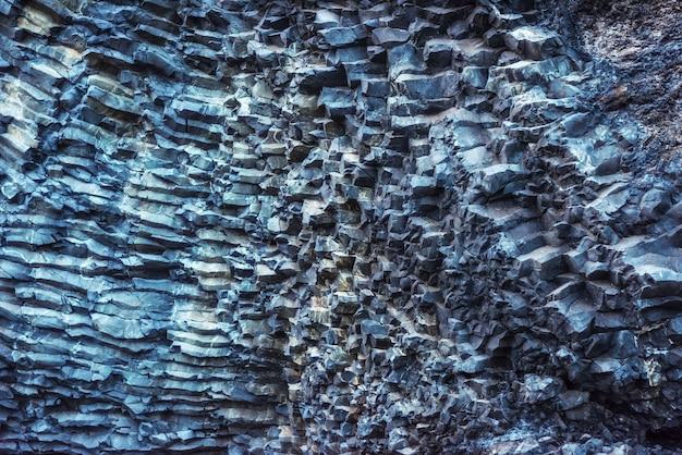 Textur berge reynisfyal kap dyrholaey island. schönheitswelt