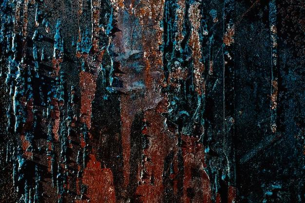 Textur der alten schäbigen rostigen metalloberfläche
