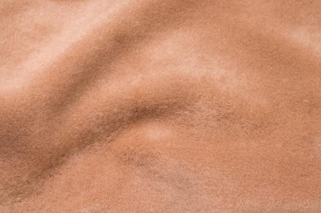 Textur der braunen alpaka-wolle nahaufnahme