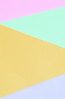 Textur der mode pastellfarben. rosa, violette, orange und blaue geometrische musterpapiere.