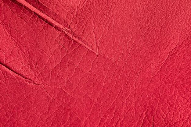 Textur der natürlichen roten schweinsleder-nahaufnahme