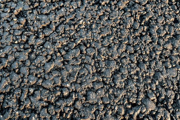 Textur der neuen asphaltstraße schließen