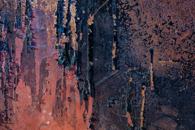 Textur der rostigen metalloberfläche