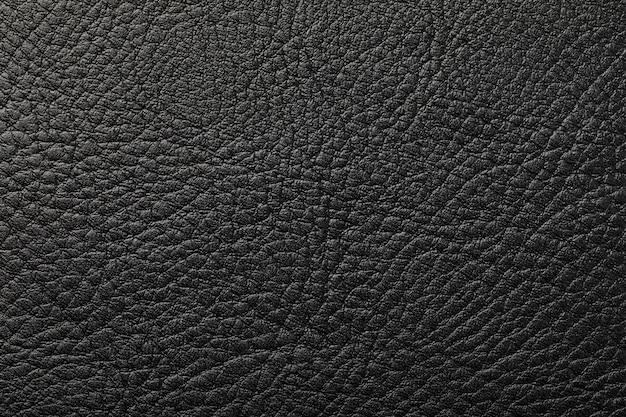 Textur der schwarzen ledernahaufnahme