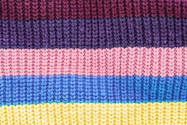 Textur des farbigen stoffes, gestreifter hintergrund.