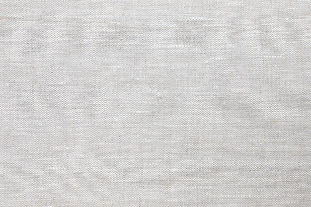 Textur des natürlichen leinengewebes der grauen nahaufnahme.