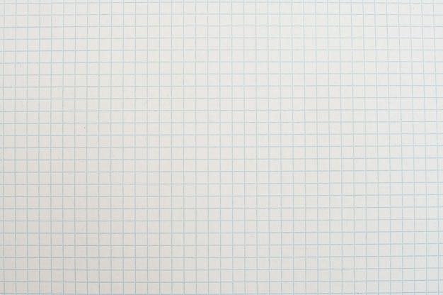 Textur des weißen papiers in einem käfig, schulheft