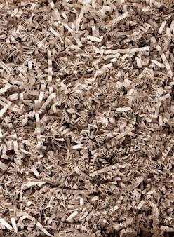 Textur des zerkleinerten papiers für gifting, versand und füllung