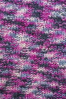 Textur gestrickter wollstoff