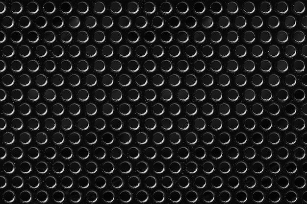 Textur metall schwarz mesh mit runden löchern