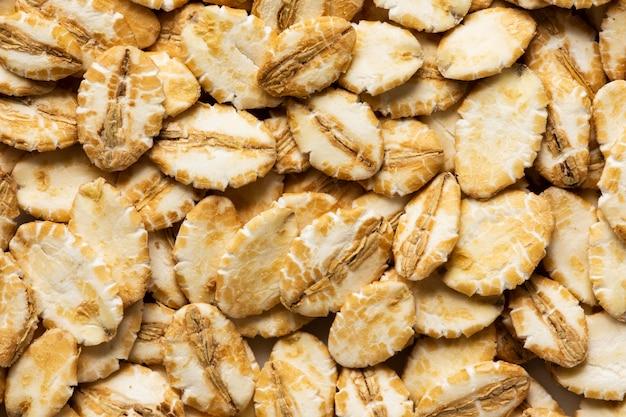 Textur nahaufnahme auf köstliche lebensmittelzusammensetzung