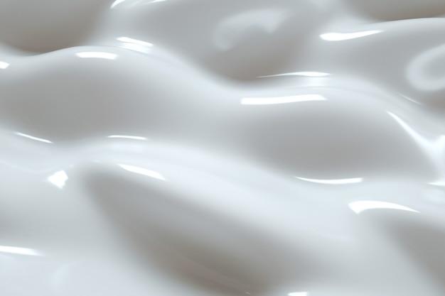 Textur organische weiße creme 3d render abstrakten hintergrundkosmetik feuchtigkeitsspendende lotion