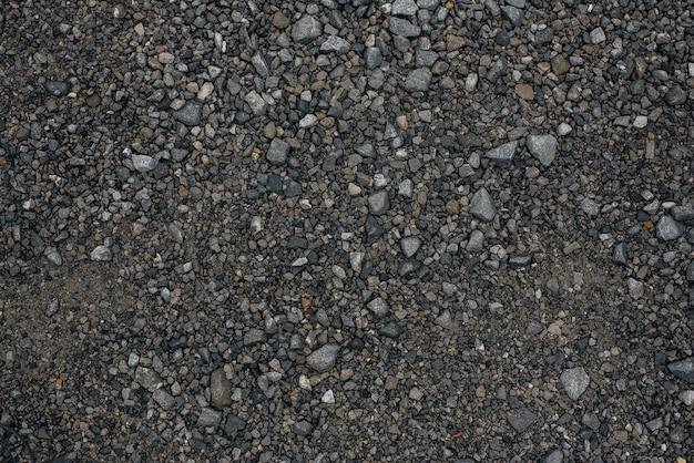 Textur von kies, steinen.