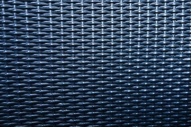 Textur von möbel rattan. nahaufnahme eines grauen rattans