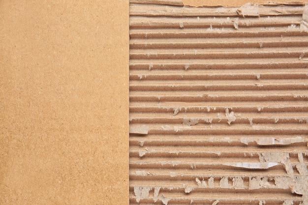 Textur von papppapier, nahaufnahme