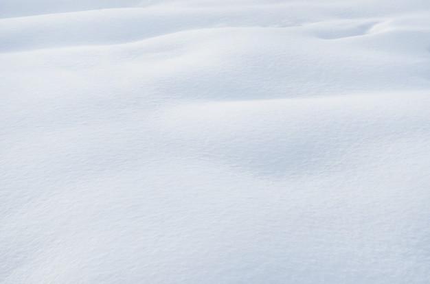 Textur von schneeverwehungen mit selektivem fokus