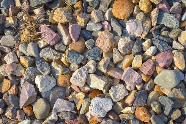 Textur von steinen, schotterhintergrund, schotterbeschaffenheit