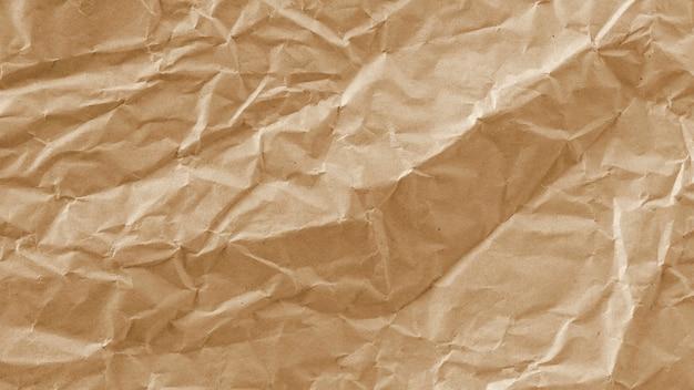 Textur von zerknittertem braunem papier