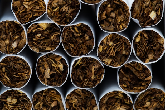 Textur von zigaretten.