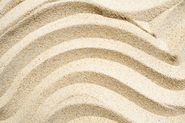 Texture linie welle sand am strand