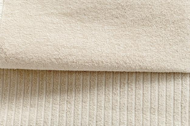 Texturierte handtücher aus natürlicher baumwolle