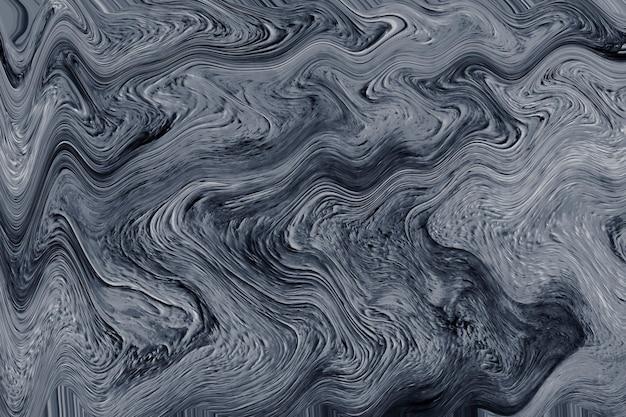 Texturierter hintergrund mit grauer flüssiger kunstmarmorfarbe