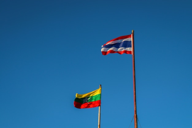 Thai-birmanische flagge