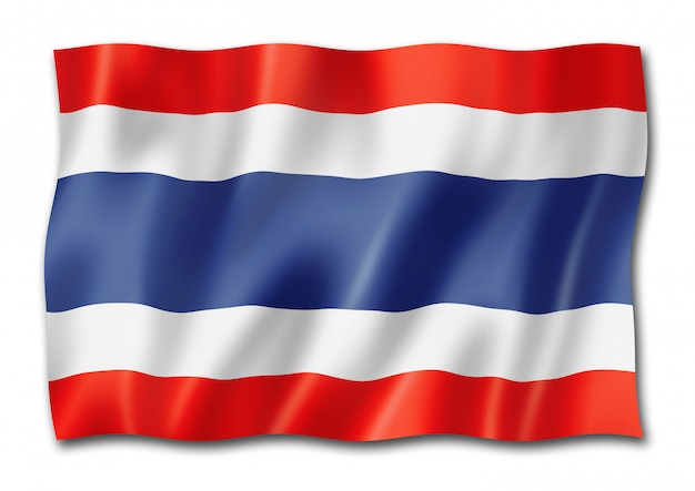Thai flagge isoliert